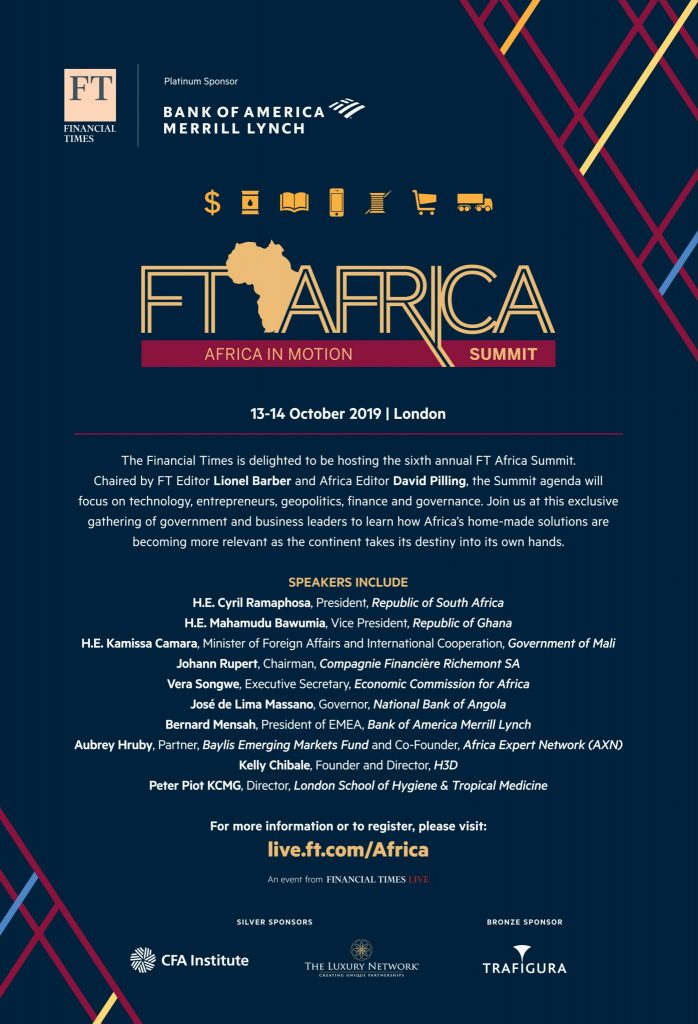 The Luxury Network Nigeria to Join the FT Africa Summit 2019 at Claridge's in Mayfair.