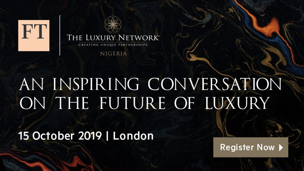"""An Inspiring Conversation on the Future of Luxury   """" a partnership with FT Live"""